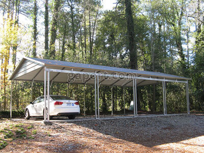 Side entry box eave style carports for Carports with sides