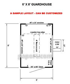 Security guard house designs prefab security guardhouse for Guard house design layout