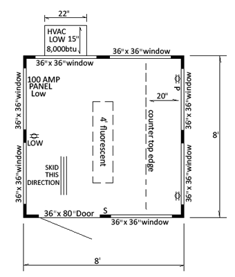 Floor Plan Guard House