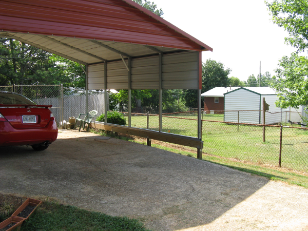 Preparation For Installation Of A Carport On An Unlevel Site
