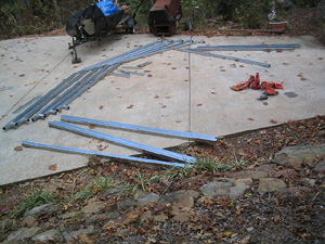initial steps in building a metal carport