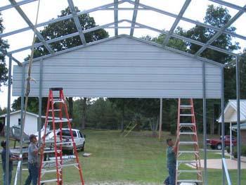 Steel rv garage construction photos 20 x 40 x 12 for 20 x 26 garage