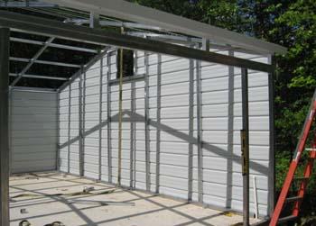 24 x 30 steel garage under construction is a nice size for 24 da 30 garage