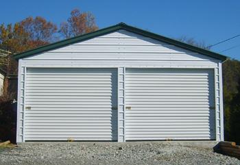 Steel garage kits diy for 12 foot roll up door