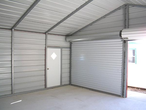 Steel garage interior 20x20 metal garage inside - Inside of a garage ...