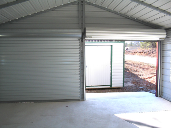 Garage Doors Inside House : Steel garage interior metal inside