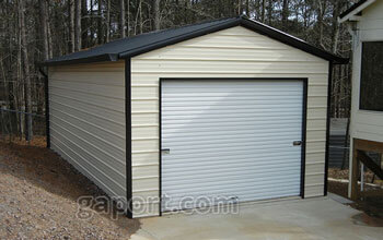 Attractive 14 Wide Carolina Garage Equipped With A Single Door In The End