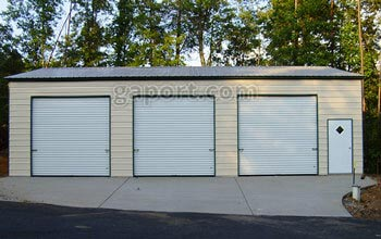 Metal garages steel buildings steel garage plans for 3 bay garage cost
