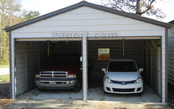 Metal garages steel buildings steel garage plans for Two story metal garage