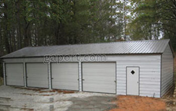 Metal garages steel buildings steel garage plans for 4 car garage dimensions