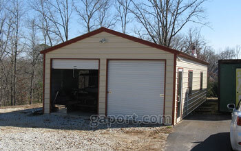 Sample installation in Iowa showing a 18x20x9 garage with two garage doors, one sectional.