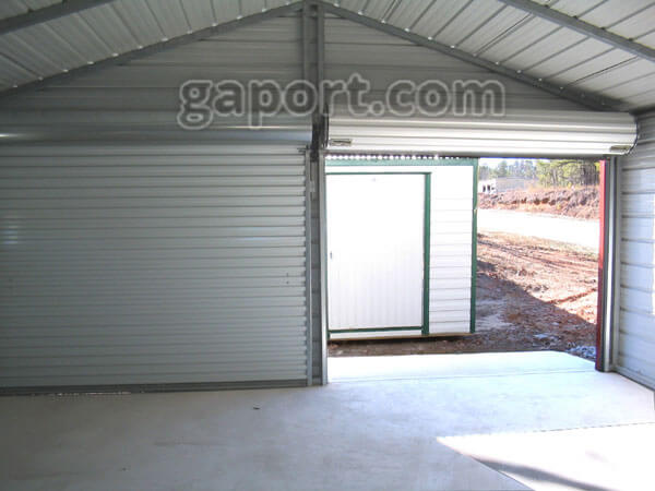 Metal garages steel buildings steel garage plans for How much does a 24 by 24 garage cost