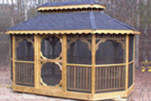 A true delight, the screened in gazebo, enjoy the outdoors, no bugs!