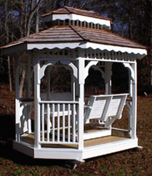 Painted or unpainted, the oblong teahouse is an attractive addition for you!