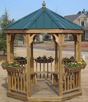This gazebo is a popular choice for business locations or smoking pavillions.