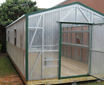 A 12' x 30' greenhouse is great for a nursery or learning environment such as educational.