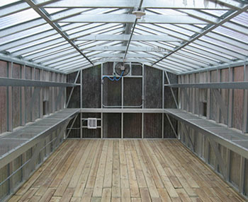 Many different types of seeds, plants and trees are grown in a 12x30 greenhouse green house.