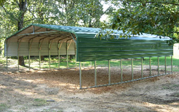 A handsome outdoor metal structure with added length and extra support bracing 30x31x8x10.8