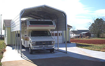 Parking an RV or camper is simple with this carport.