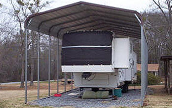 Cover your RV, motorhome or recreational vehicle against wind, sun, snow, or weather damage.