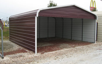 A covered parking place to park, in other words a carport awning with full sides.