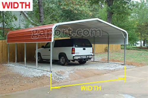 Where Is The Width And Length Measured On My Carport