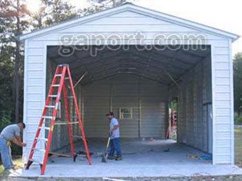 Steel Rv Garage Construction Photos 20 X 40 X 12