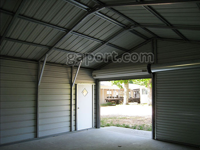 Commercial Steel Garages Inside : Steel garage interior metal inside