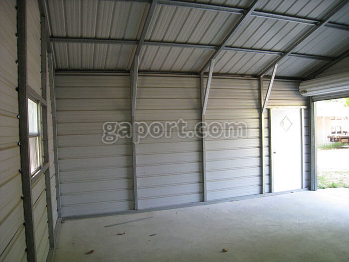 Excellent The Inside Of A 20X20 Steel Garage Interior Metal Building Download Free Architecture Designs Rallybritishbridgeorg