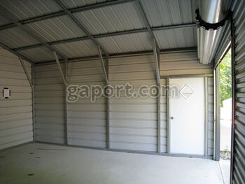 The Inside Of A 20x20 Steel Garage Interior Metal Building