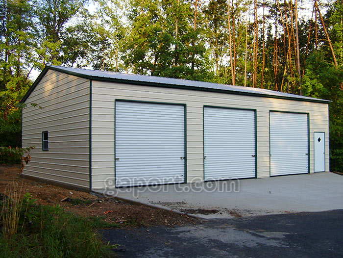 Metal garages steel florida fl 3 car metal garage kits