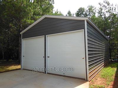 frame garages custom vertical a metal roof aframe garage