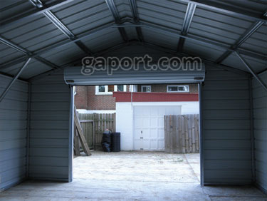 Metal garages steel maryland md for Garage md carvin