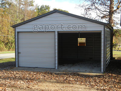 Metal garage two car 2 for 2 car garage size