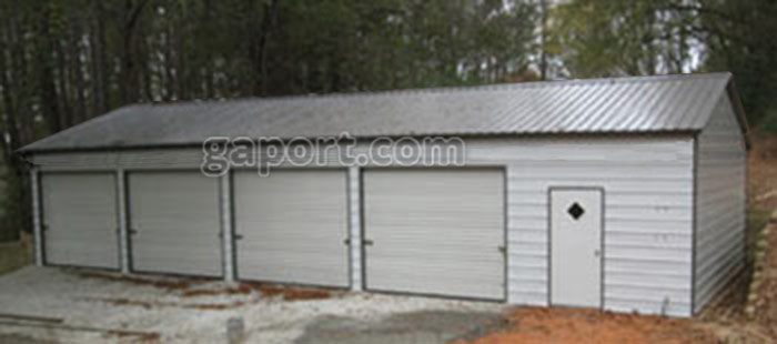 Four Car Metal Garages | 4 Bay Steel Garage