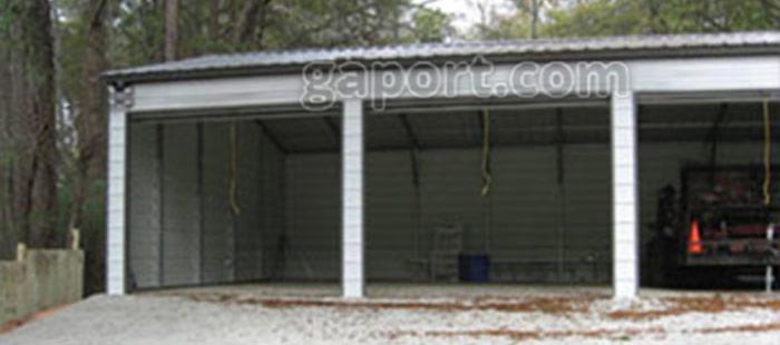 Four Car Metal Garages 4 Bay Steel Garage