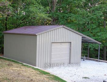 Metal garage one car 1 - Garage metal castorama ...