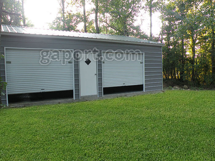 Metal steel garage kits diy for Diy garage packages