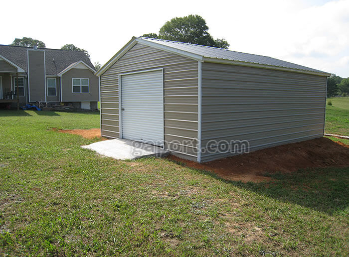 Portable Garage Metal Buildings : Portable metal garages that fit your budget smashing the