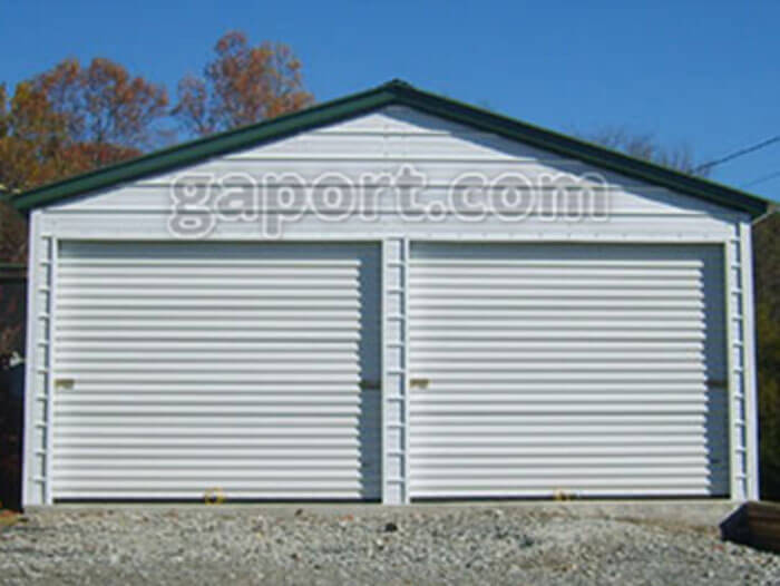 Steel garage kits diy for Two story metal building kits