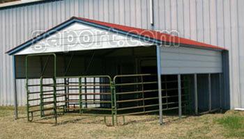 Steel Carports - Box Eave Style