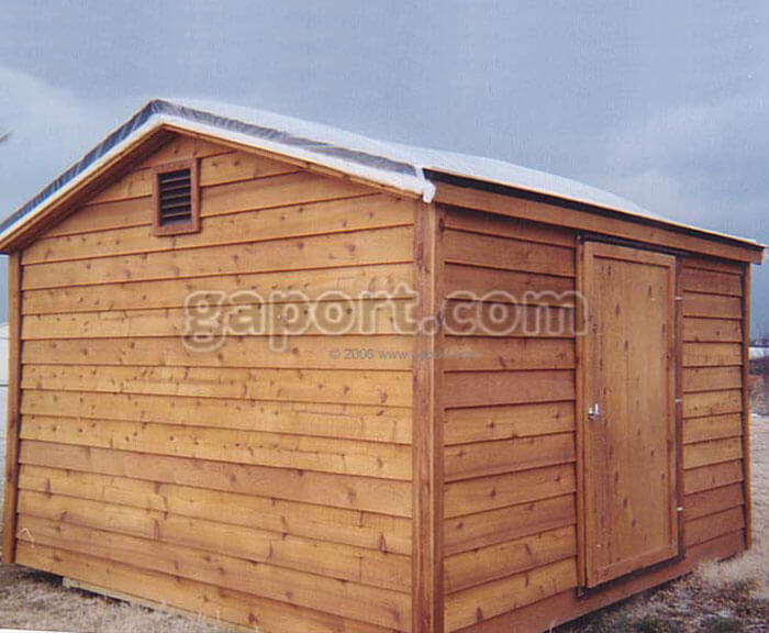 A Lovely And Solid Crafted Portable Wood Storage Building With Asphalt  Shingled Roof And Vent. Sample D. Asphalt Roof, Wood Storage Building ...